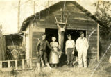 Adze, Charles and John with Mary Ellen Fitzgerald, Sequim, WA, ca. 1938