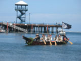 Intertribal Canoe Journey at Elwha, Hollywood Beach, WA, 2008