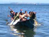 Intertribal Canoe Journey at Jamestown, Dungeness Bay, WA, 2005