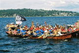 Intertribal Canoe Journey at Muckleshoot, Lake Washington, WA, 2006