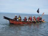 Intertribal Canoe Journey at Jamestown, Jamestown Beach, WA, 2011