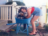 Andrea Bryans with her pets, San Luis Obispo, CA, 2000