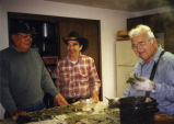 Ed and Lyle with George Adams, Blyn, WA, 1998