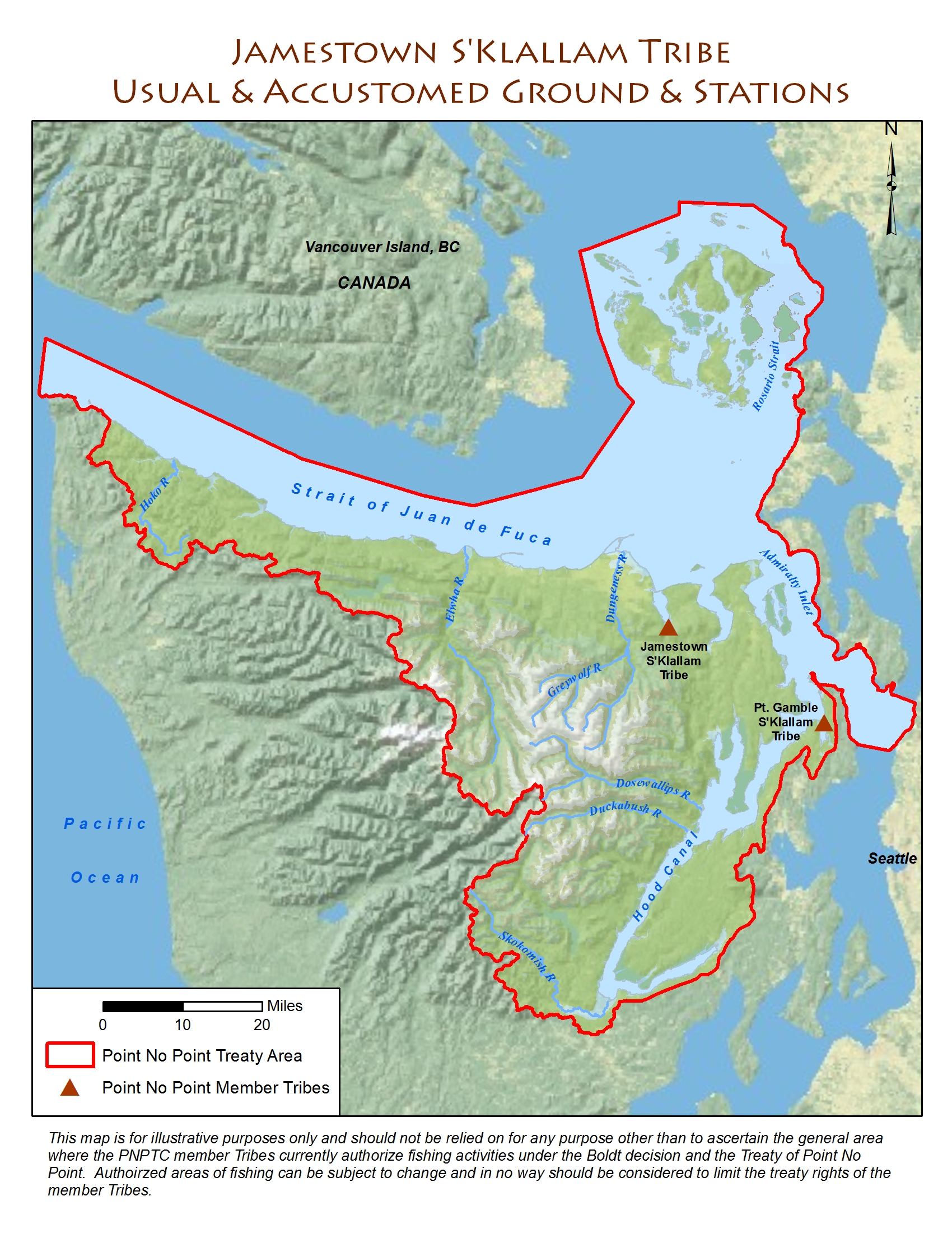 House Of Seven Generations Educational Resources - Map washington state peninsula